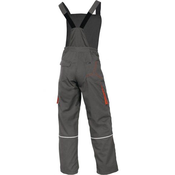 M2SA2 GR back 580x580 - Spodnie robocze ogrodniczki M2SA2