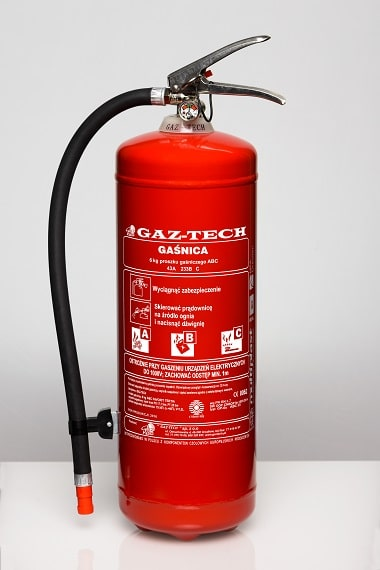 GazTech 6KG ABC 43A magnes sito - Gaśnica proszkowa GP-6 X ABC ES do 245 kV