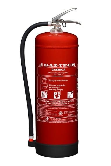 GazTech gaśnica proszkowa GP 12x ABC ES - Gaśnica proszkowa GP-12 X ABC ES do 245 kV