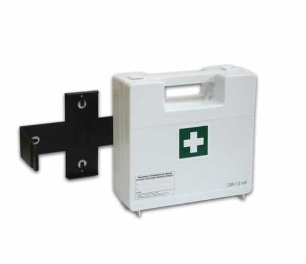 BDR z wieszakiem 2 600x518 - Apteczka pierwszej pomocy BDR z wyposażeniem DIN 13164 z wieszakiem (systemem mocującym)