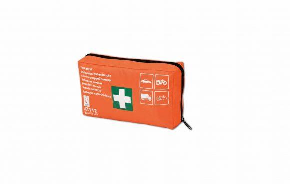 DIN Material 4 1 1 580x368 - Apteczka pierwszej pomocy samochodowa z wyposażeniem TYP DIN materiał