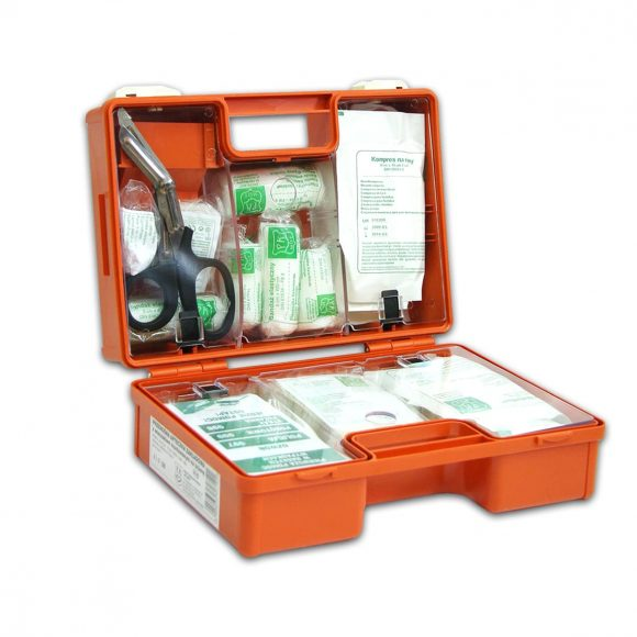 K 10a 580x580 - Przenośna apteczka zakładowa typ K-10 z wyposażeniem DIN 13164 i wieszakiem