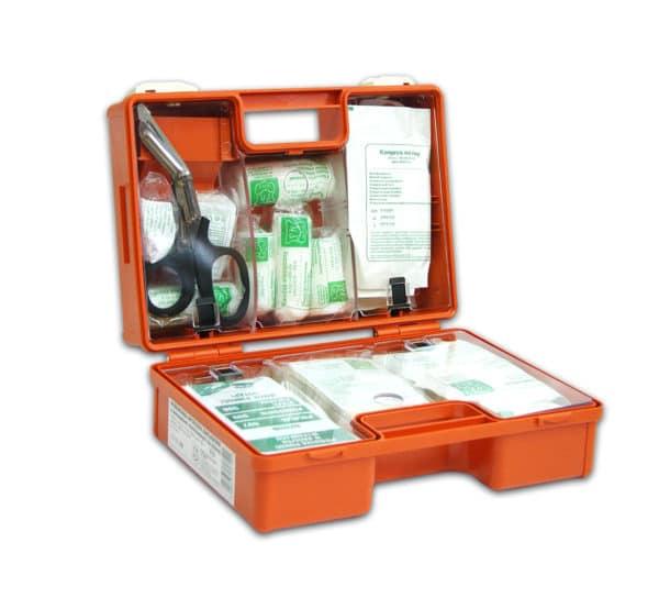 K 10a 600x554 - Przenośna apteczka zakładowa typ K-10 z wyposażeniem DIN 13164 i wieszakiem