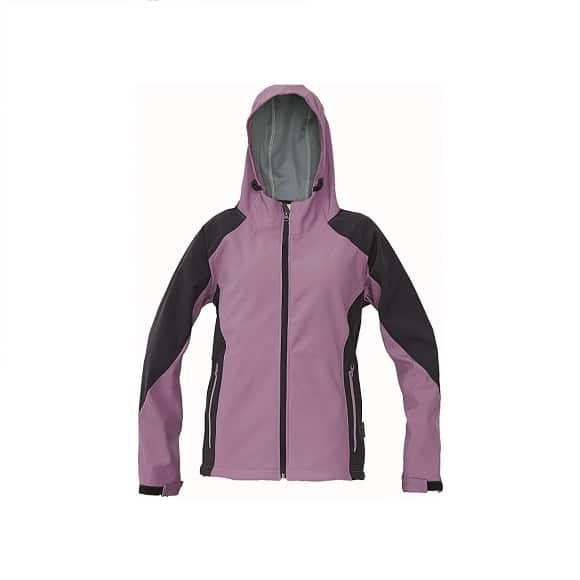 03010324 YOWIE softshell jacket 19773 lila www 1 - Kurtka softshell damska z kapturem YOWIE CERVA - Wodoodporna i oddychająca