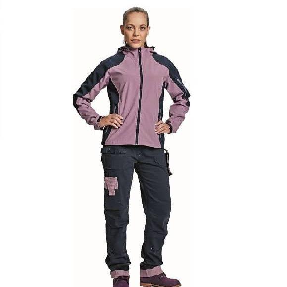 03010324 YOWIE softshell jacket navy CERVA UNOR DEN3 7935 DESIGNUJ www1 580x580 - Kurtka softshell damska z kapturem YOWIE CERVA - Wodoodporna i oddychająca