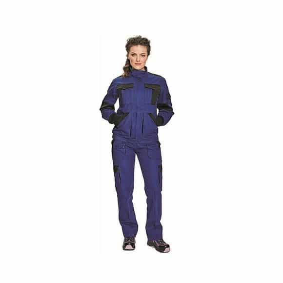 03010380  03020242 MAX LADY BLUE BLACK 9x www 580x580 - Bluza robocza damska MAX LADY CERVA