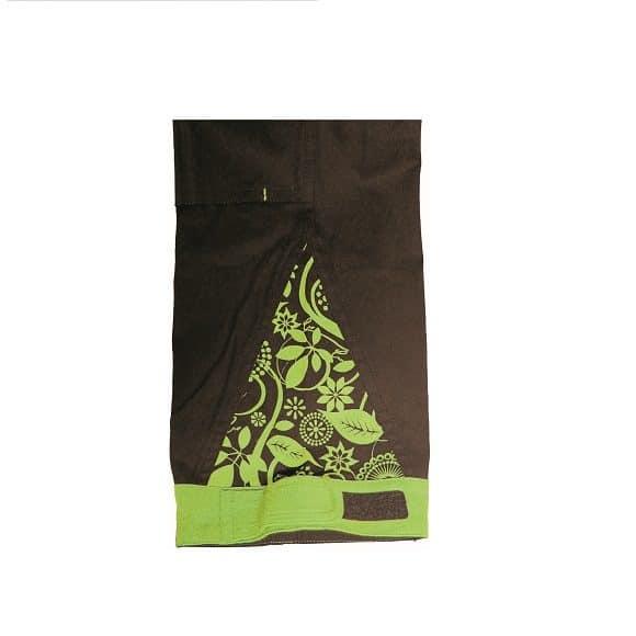 03020208 YOWIE BIBPANTS IMG 9188 detail green www 580x580 - Spodnie robocze damskie ogrodniczki bawełniane stretch YOWIE CERVA