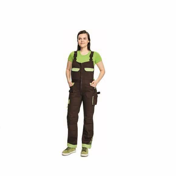 03020208 YOWIE BIBPANTS brown CERVA 2018 26296 www 580x580 - Spodnie robocze damskie ogrodniczki bawełniane stretch YOWIE CERVA
