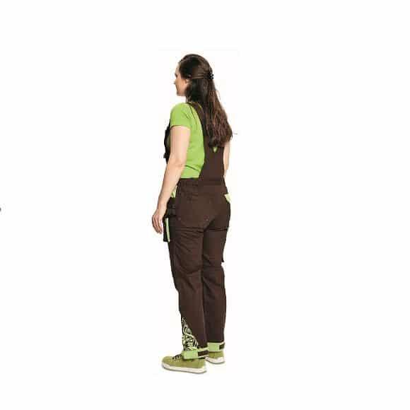 03020208 YOWIE BIBPANTS brown CERVA 2018 26359 www 580x580 - Spodnie robocze damskie ogrodniczki bawełniane stretch YOWIE CERVA