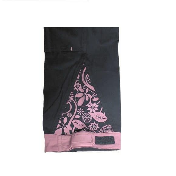 03020208 YOWIE BIBPANTS lila IMG 9188 detail www 580x580 - Spodnie robocze damskie ogrodniczki bawełniane stretch YOWIE CERVA