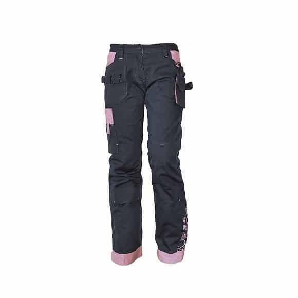 03020209 YOWIE pants 19786 lila www - Spodnie robocze damskie do pasa bawełniane stretch YOWIE CERVA