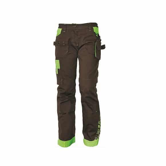 03020209 YOWIE pants brown 19786 www 580x580 - Spodnie robocze damskie do pasa bawełniane stretch YOWIE CERVA