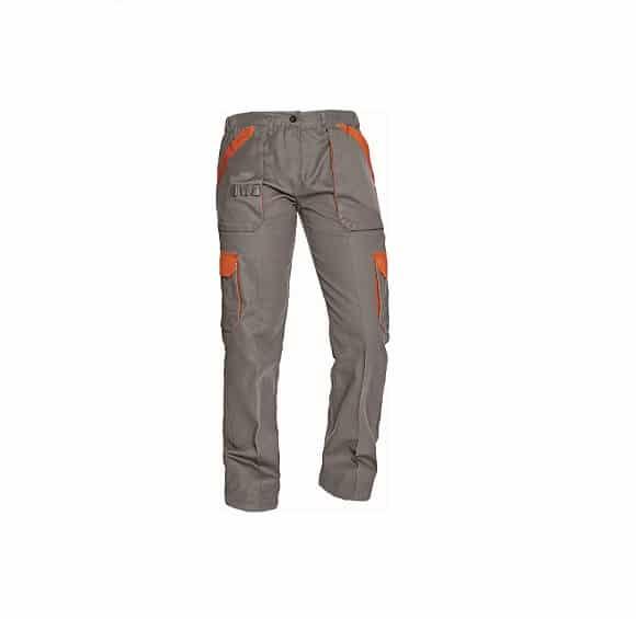 03020242 MAX LADY pants grey orange www - Spodnie robocze do pasa damskie MAX LADY CERVA