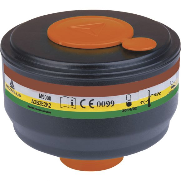 M9000 A2B2E2K2 580x580 - Pochłaniacz gazowy M9000E A2B2E2K2 do maski pełnotwarzowej GALAXY