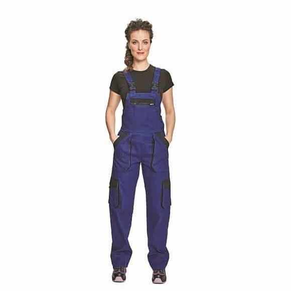 03020243 MAX LADY BIBPANTS BLUE BLACK 2x www 1 580x580 - Spodnie robocze ogrodniczki damskie MAX LADY CERVA