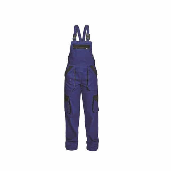 03020243 MAX LADY BIBPANTS BLUE BLACK 2x www - Spodnie robocze ogrodniczki damskie MAX LADY CERVA