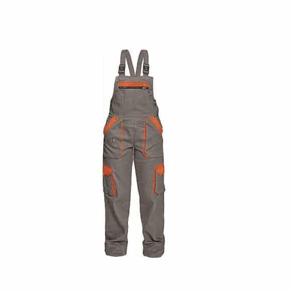 03020243 MAX LADY bibpants grey www 580x580 - Spodnie robocze ogrodniczki damskie MAX LADY CERVA