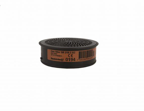 07040107 SR218 3 GAS FILTER A2 H02 2012 001 www 580x447 - Pochłaniacz filtr przeciwgazowy SR 218-3 A2 do półmaski SUNDSTROM