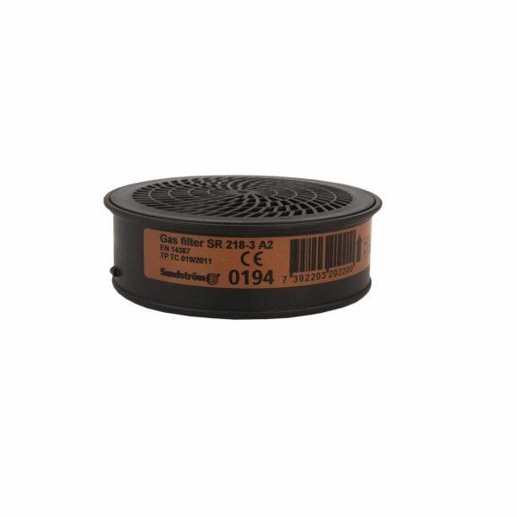 07040107 SR218 3 GAS FILTER A2 H02 2012 001 www 580x580 - Pochłaniacz filtr przeciwgazowy SR 218-3 A2 do półmaski SUNDSTROM