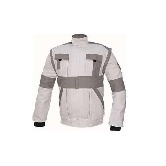 03010210 MAX jacket white 0788 mb www 580x580 - Bluza kurtka robocza 100% bawełna MAX CERVA kolory
