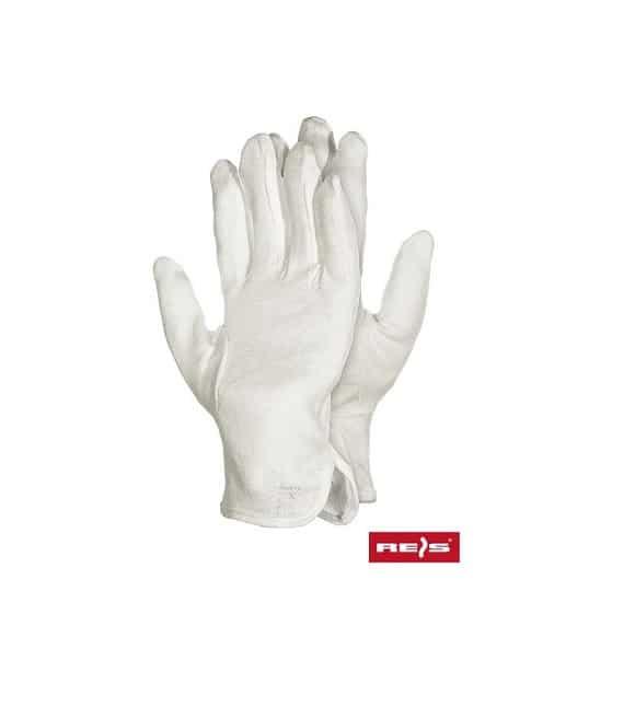 RMICRON BAŁE www - Rękawice bawełniane białe z nakropieniem RMICRON