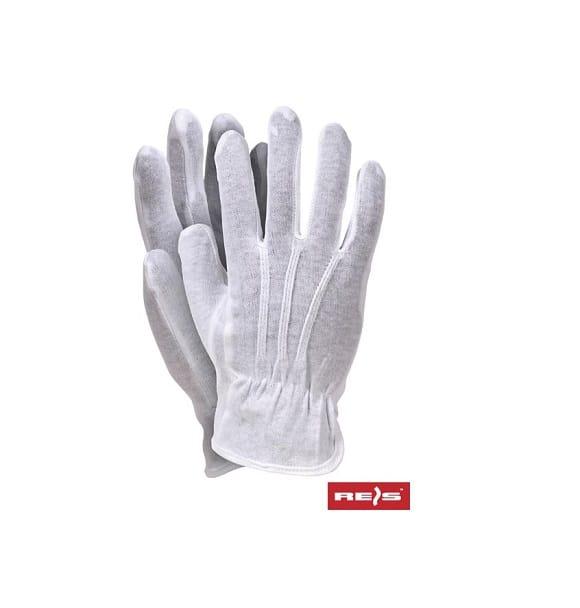 RWKBLUX www - Rękawice bawełniane białe bez nakropienia RWKBLUX