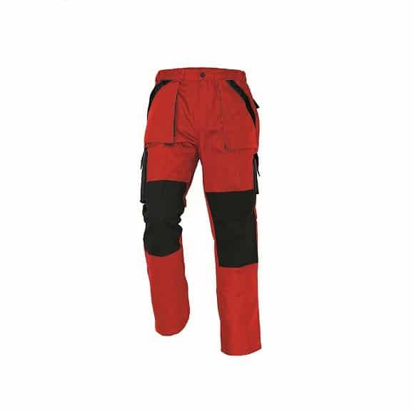 03020144 MAX pants red black 0907 mb designuj retus www - Spodnie robocze do pasa 100% bawełna MAX CERVA kolory