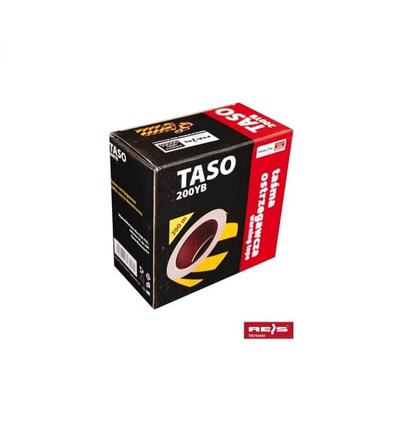 TASO200YB www - Taśma ostrzegawcza odgrodzeniowa dwustronna żółto-czarna 200m TASO200YB REIS