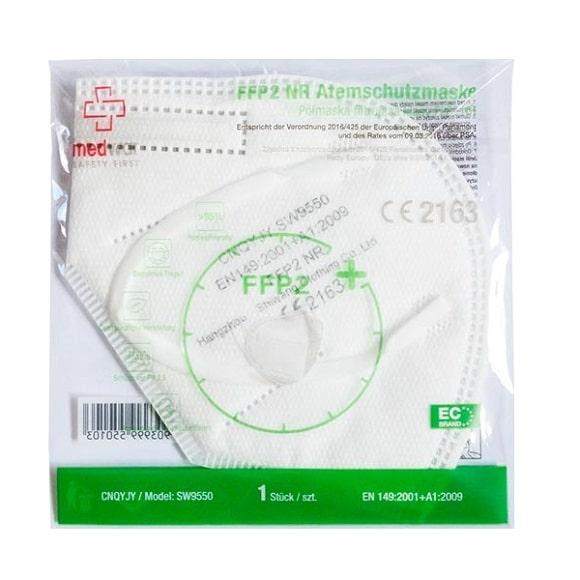 maska ffp2 009 - Półmaska jednorazowa filtrująca FFP2 NR (opakowanie 20 szt.)