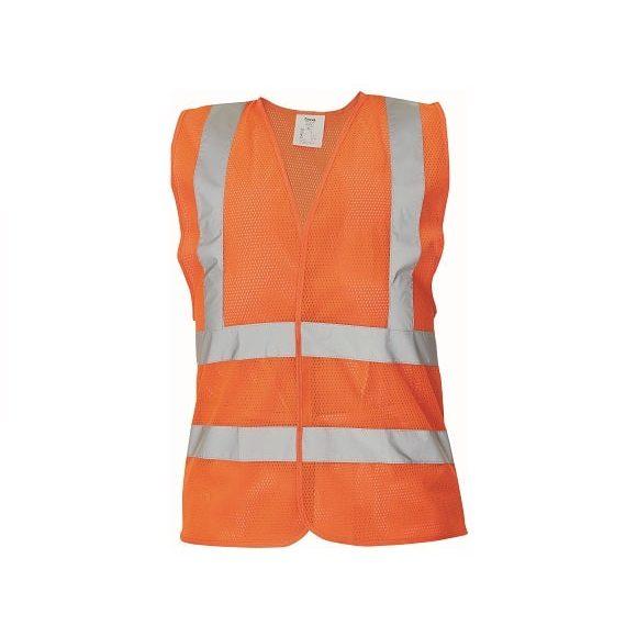 03030048 QUOLL vest orange CERVA 042017 10896 www 580x580 - Kamizelka ostrzegawcza siatkowa 4 odblaski QUOLL pomarańczowa, żółty fluo