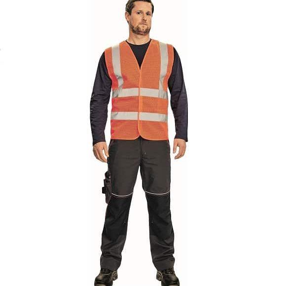 03030048 QUOLL vest orange model CERVA 042017 7507 www 580x580 - Kamizelka ostrzegawcza siatkowa 4 odblaski QUOLL pomarańczowa, żółty fluo
