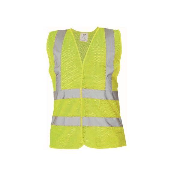 03030048 QUOLL vest yellow CERVA 042017 10896 www 580x580 - Kamizelka ostrzegawcza siatkowa 4 odblaski QUOLL pomarańczowa, żółty fluo