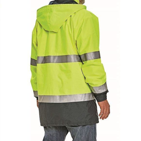 03010073 SEFTON jacket yellow navy model detail 19834 www 580x580 - Kurtka ostrzegawcza ocieplana SEFTON