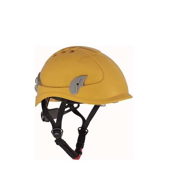 06010122 ALPINWORKER yellow CERVA 042017 8007 www - Hełm ochronny do prac wysokościowych wentylowany ALPINWORKER z okularami ochronnymi