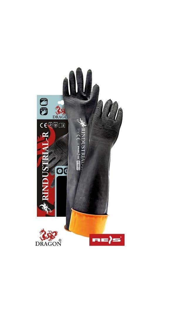 RINDUSTRIAL R2 www - Rękawice ochronne lateksowe 60cm RINDUSTRIAL-R z przedłużonym mankietem