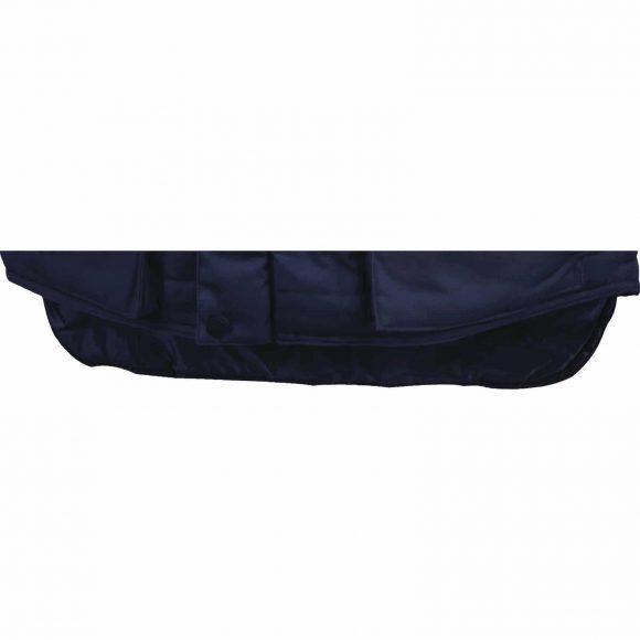 SIERRA BM lower back protection 580x580 - Kamizelka robocza ocieplana z przedłużonym tyłem SIERRA - WYPRZEDAŻ
