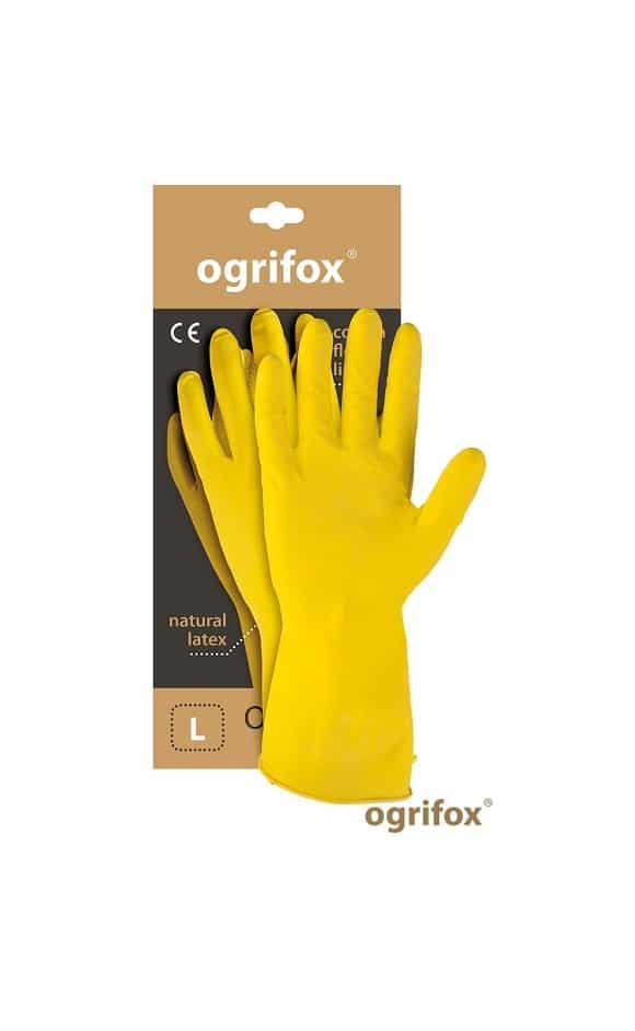 OX FLOX - Rękawice gospodarcze lateksowe OGRIFOX