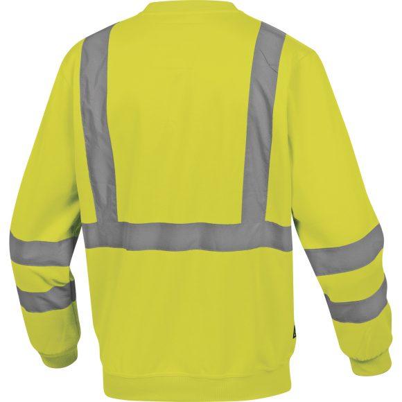 ASTRAL JA back 580x580 - Bluza ostrzegawcza molton żółta pomarańczowa fluo ASTRAL DELTA PLUS