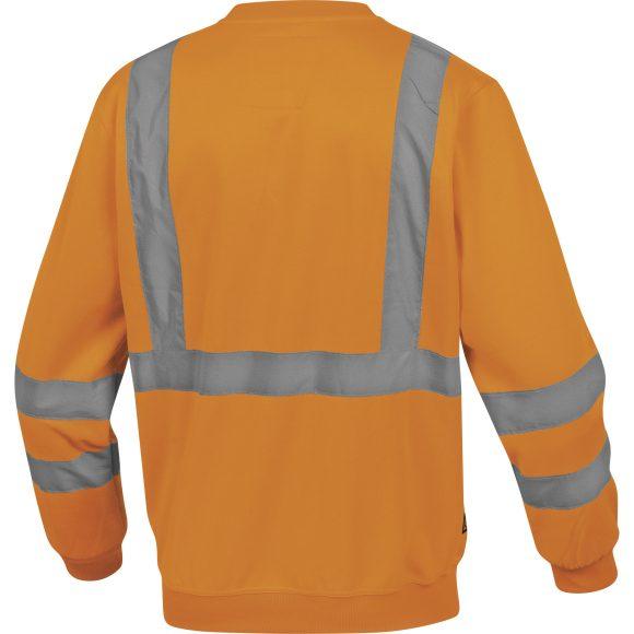 ASTRAL OR back 580x580 - Bluza ostrzegawcza molton żółta pomarańczowa fluo ASTRAL DELTA PLUS