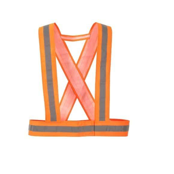 HV55ORR 580x580 - Szelki ostrzegawcze z taśmą odblaskową HV55 pomarańczowe, żółte